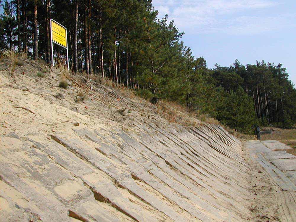 Feste Schrägfahrt: Neigung bis etwa 42°, Längen: 20 m und 30 m