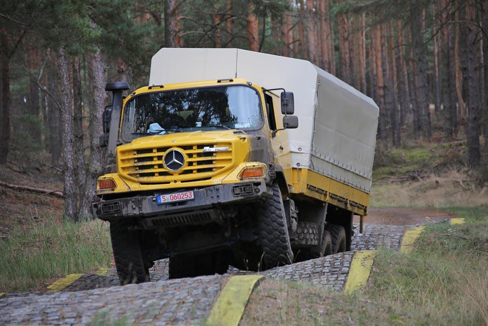 Die Verwindungsbahn wurde speziell für große Nutzfahrzeuge gebaut.